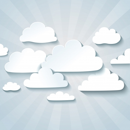 White clouds or speech bubbles for your text.