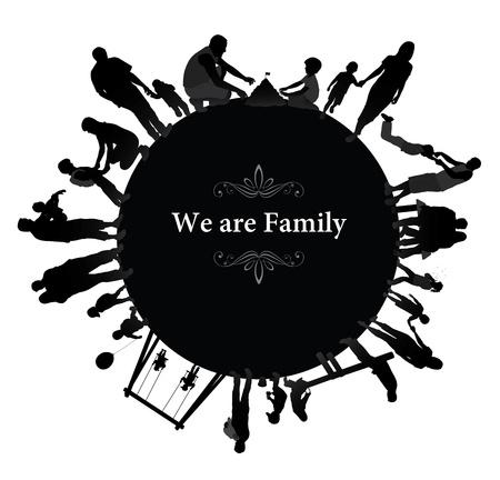 lifestyle family: Marco con las siluetas de la familia