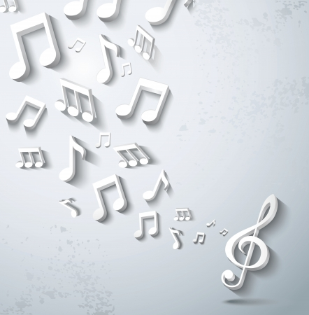 music 3d: Abstract music background.  Illustration