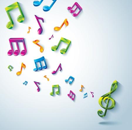 note musicale: Sfondo musica astratta. Vettoriali