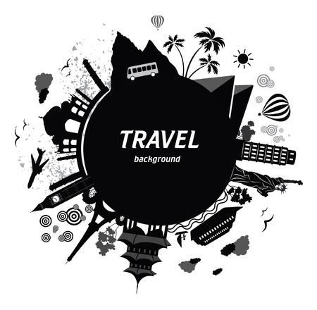 여행: 배경 여행. 일러스트