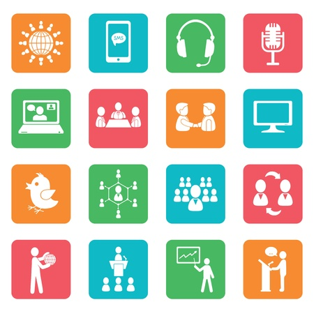Set of communication icons. Color buttons. Stock Vector - 20352735