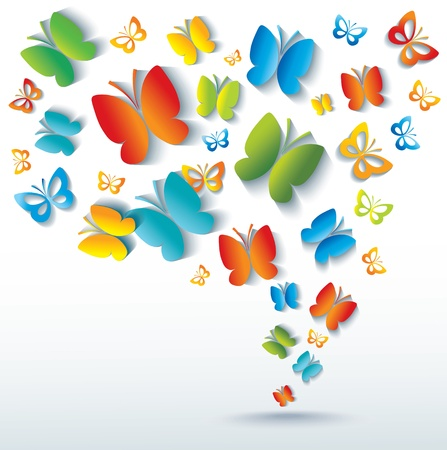 Abstract background with butterflies.  Vector