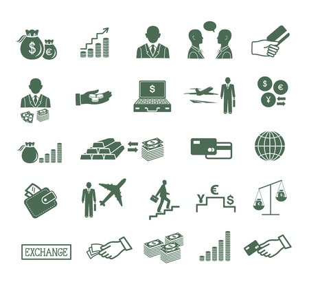 Finance , banking   business icons set   Vector