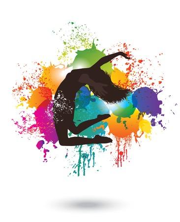 Dancing Woman  Colorful dancing concept 2