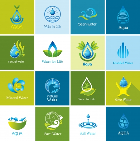 Set of vector Water icons 2   Vector