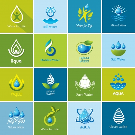 Set of vector Water icons 3