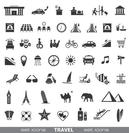 for rent sign: Travel Icons  Set 2   Illustration