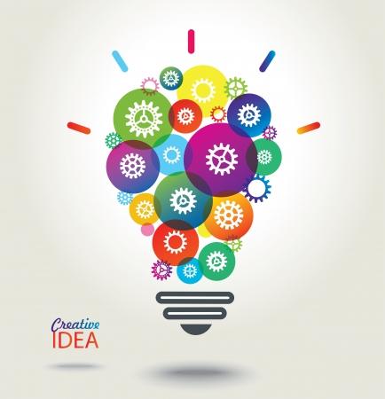 アイデア カラフルな概念的な背景  イラスト・ベクター素材