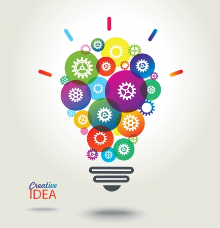 IDEA  Colorful conceptual background