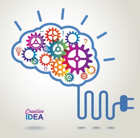 Creative Brain Idea concept background