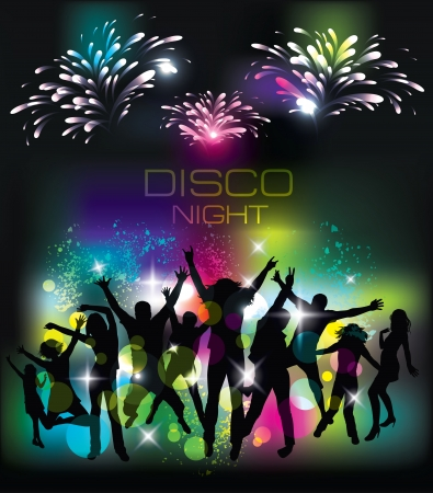 Young people on the party  Celebration background  Vector