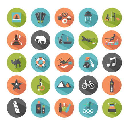 Set of travel icons  Modern flat design elements   Vector