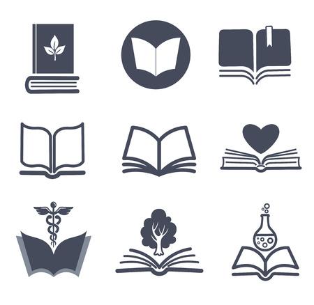 Conjunto de iconos del vector del libro