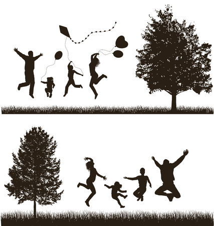 black family: Happy family   Concept  Set