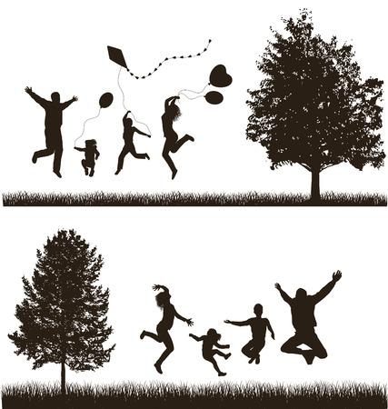 La familia feliz Concepto Set