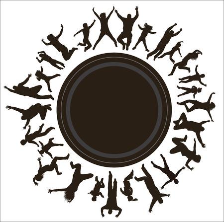 niños danzando: Familias jóvenes felices