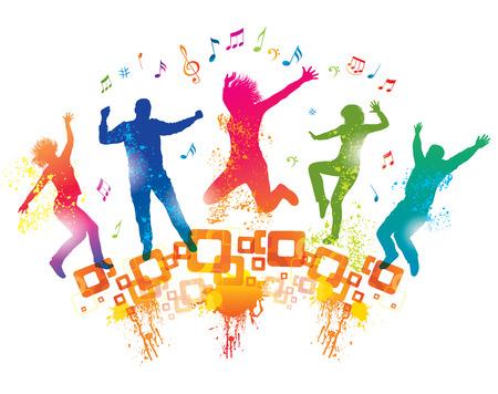 Junge Menschen auf der Party Standard-Bild - 28054723