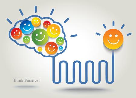 positief: Positief denken Succes Conceptuele achtergrond Stock Illustratie