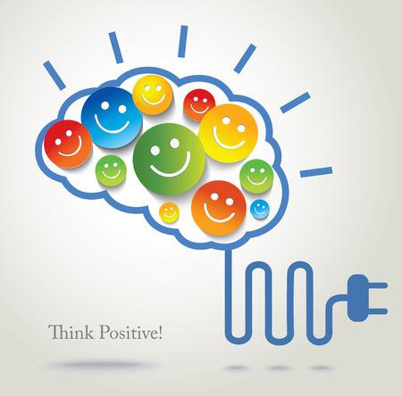 Positief denken Succes Conceptuele achtergrond Stock Illustratie