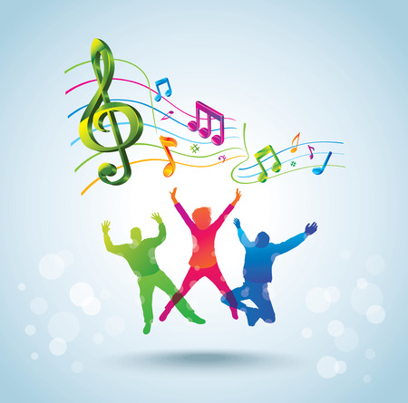 Dancing people  Music background