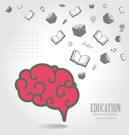 Education abstract conceptual background.  Vector