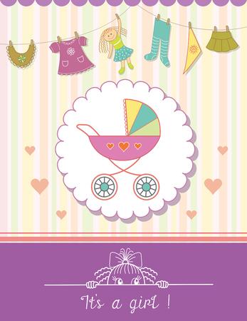 Tarjeta de la invitación de la ducha del bebé. fondo niño con un patrón.
