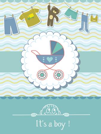 Baby-Duschen-Einladungs-Karte. Kind Hintergrund mit einem Muster.