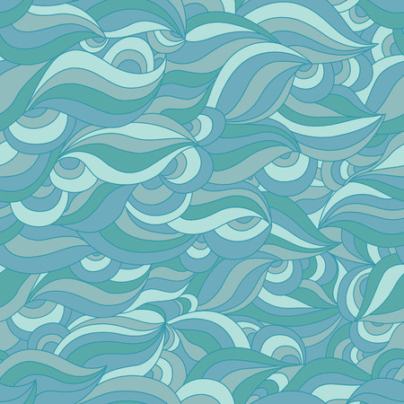 clots: Seamless Wave Pattern. Abstract Blue Ornament. Fashion Background for a Fabric and Packing. Illustration