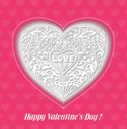 wedding day: Valentines Day or Wedding Greeting Card.