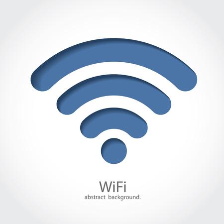 WiFi Icon on White Background.