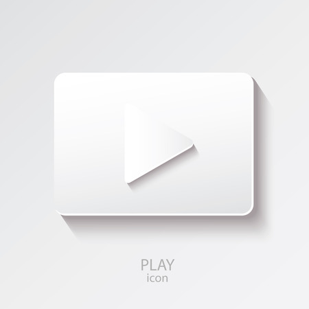 icon buttons: Play icon isolated on the white background. Vector buttons. Illustration