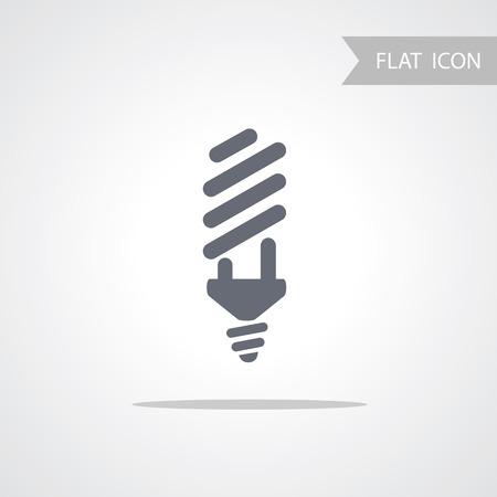 energy saving: Bulb Icon. Fluorescent Energy Saving Light Bulb Icon.