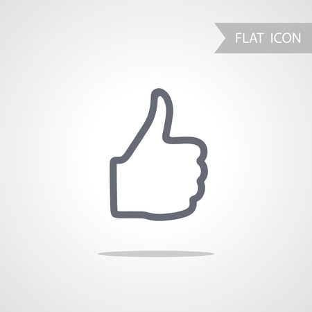 confirmed: Hand Icon isolated on white Background.