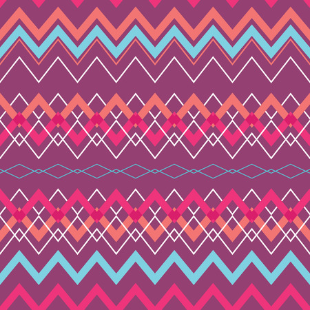 Tribal Boho Seamless Pattern with Rhombus. Ethnic Geometric Ornament. Boho Vector Pattern. Fabric, Wallpaper and Wrapping Texture. Illustration