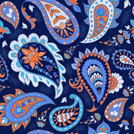 Nahtlose abstrakten Blumenmuster mit Paisley