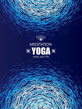 refrescarse: Antecedentes para cubrir el yoga y la meditación. La magia y la bandera espiritual. Vectores