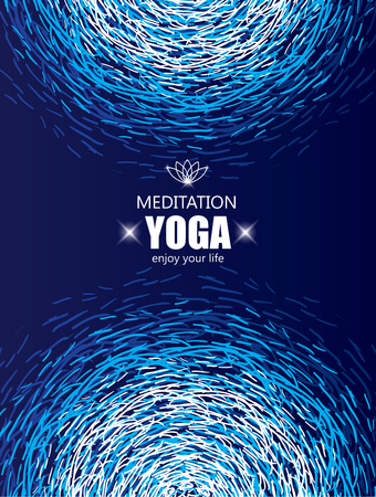refresh: Cover Background for Yoga and Meditation. Magic and Spiritual Banner.
