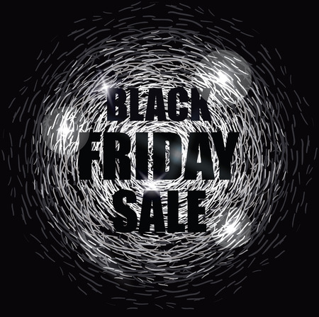 black magic: Black Friday Sale Design Banner. Magic Abstract Background.