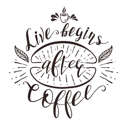 postcard: Quote for coffee. Illustration
