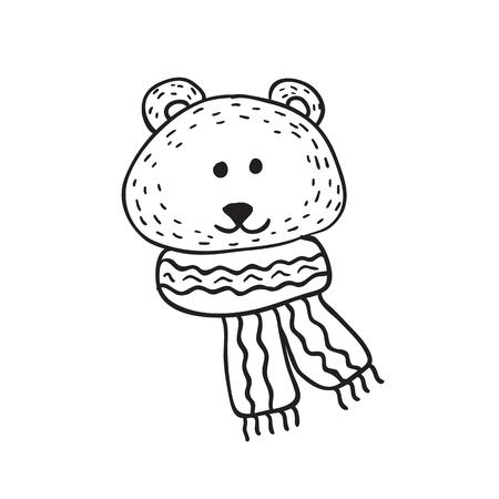 Funny teddy bear. Illustration