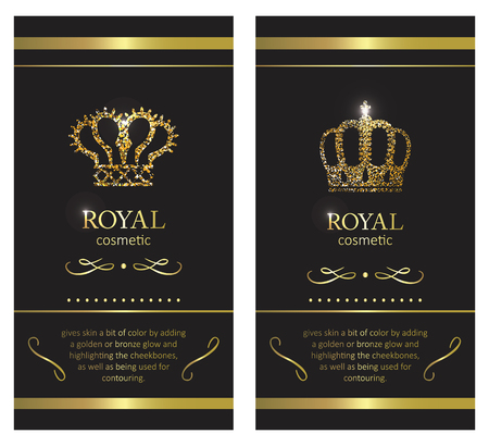 Gold crown. Luxury label, emblem or packing. 写真素材