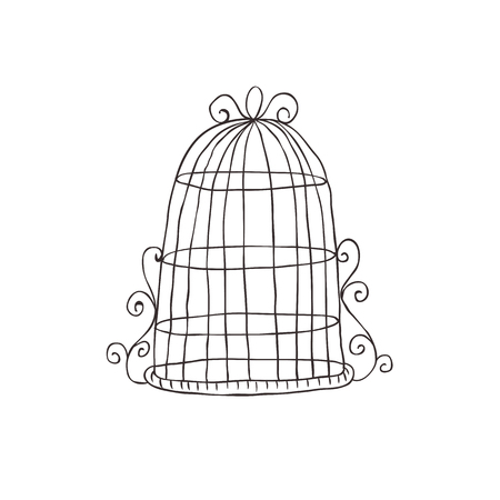 Vintage decorative birdcage. Иллюстрация