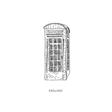 Around the World. Travel illustration with attraction of England