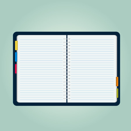 blank note: open blank note book illustration Illustration