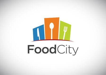 Food city logo, vector Logo Template