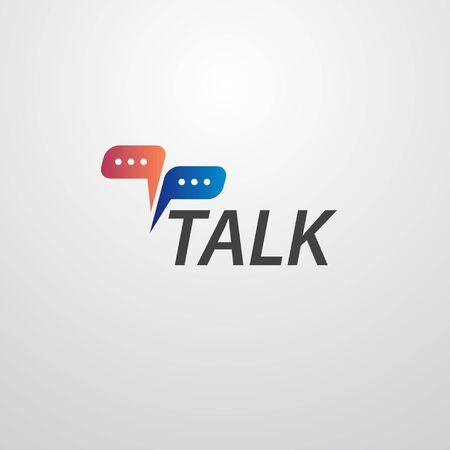talk logo with speech bubble