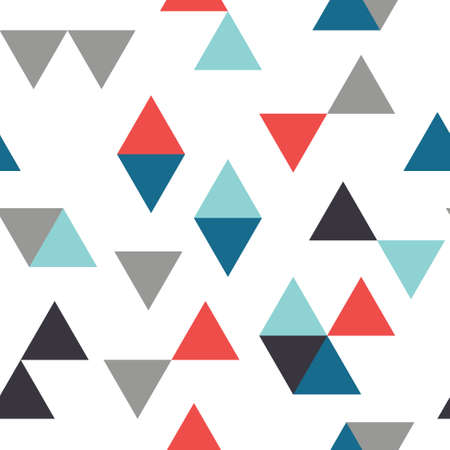 Seamless Triangle abstract pattern. Geometric background