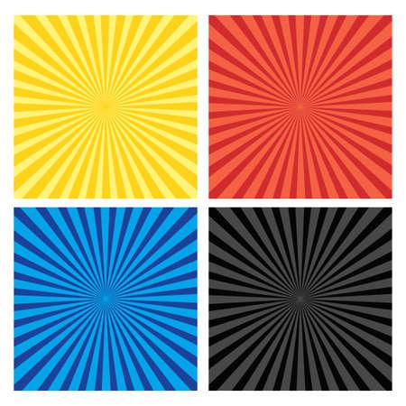 Set of backgrounds ray or sunburst Vecteurs