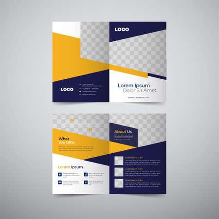 Empty bifold corporate brochure template